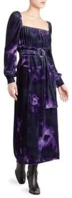 Altuzarra Adrienne Velvet Tie-Dye Dress