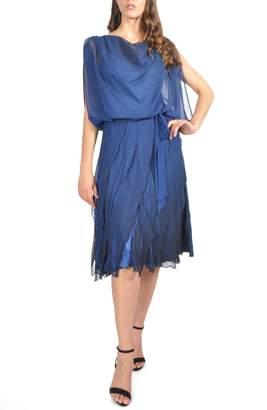 Komarov Blouson Tiered Dress