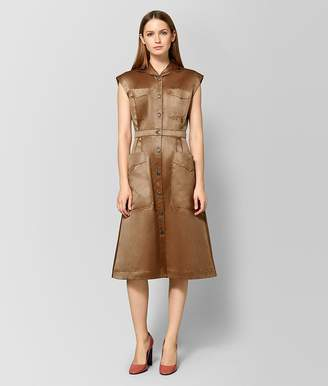 Bottega Veneta Camel Cotton Dress