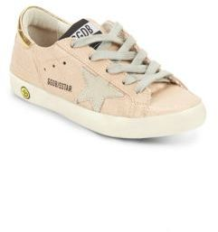 Girl's Suede Solid Sneakers $265 thestylecure.com