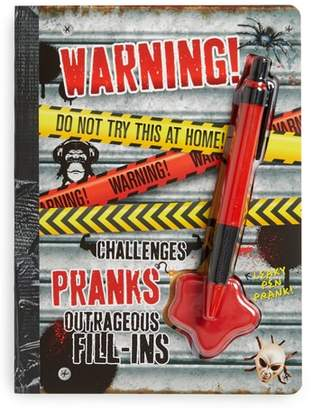 "FINE PRINT PUBLISHING ""Warning! Do Not Try This at Home!"" Activity Book & Pen Set"