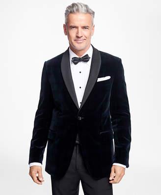 Brooks Brothers Regent Fit Black Watch Shawl Collar Tuxedo Jacket