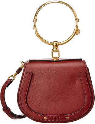 Chloé Small Nile Leather & Suede Bracelet Bag