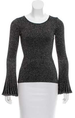 Milly Metallic Rib Knit Sweater w/ Tags