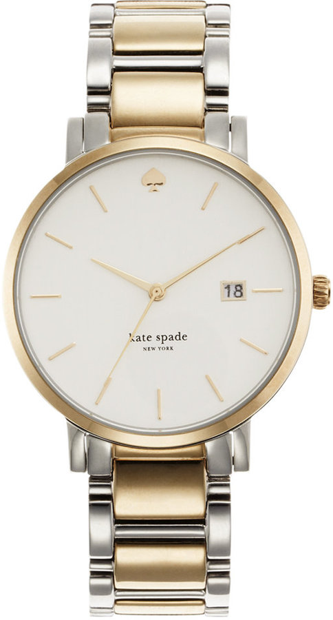 Kate Spadekate spade new york Watch, Women's Gramercy Two-Tone Stainless Steel Bracelet 38mm 1YRU0108