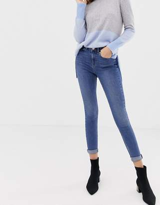 Oasis mid-rise skinny jeans in mid wash