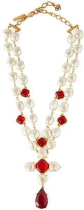 Oscar de la Renta Faux-pearl and crystal necklace