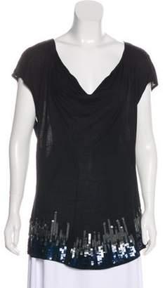 Christian Dior Sequin-Embellished Knit Top Black Sequin-Embellished Knit Top