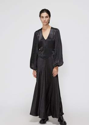 Ganni Long Sleeve Dot Dress