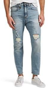 R 13 Men's Drop-Rise Distressed Slim Jeans