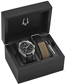 Bulova Men's Lunar Pilot Chronograph Watch Gift Set