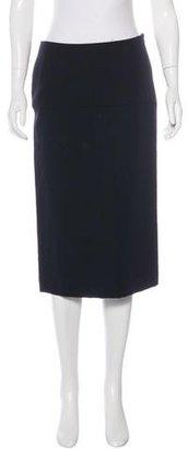 Yohji Yamamoto Midi Pencil Skirt $95 thestylecure.com