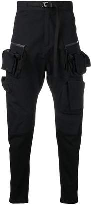 Julius side pockets tapered trousers