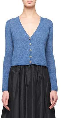 The Row Abigael Cropped Cashmere Cardigan