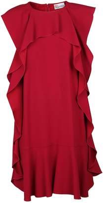 RED Valentino Frill Trim Shift Dress