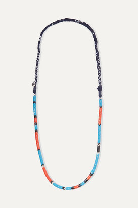 Mikia Glass And Cotton-voile Necklace - Red