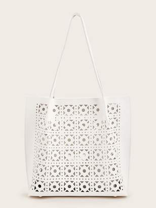 Shein Laser Cut Out Bag with Inner Pouch