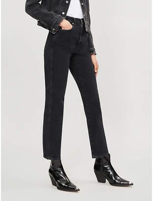 A Gold E AGOLDE Pinch Waist flared high-rise jeans