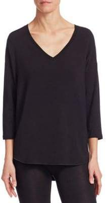 Majestic Filatures V-Neck French Terry Pullover