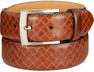 Tasso Elba Men's Embossed Leather Belt, Created for Macy's