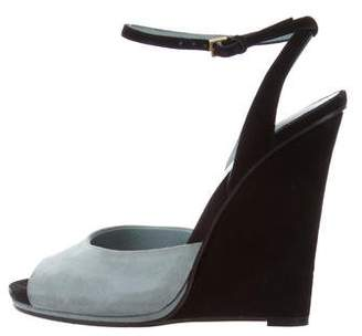 Gucci Ankle Strap Wedge Sandals