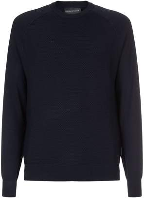 Emporio Armani Honeycomb Knit Sweater