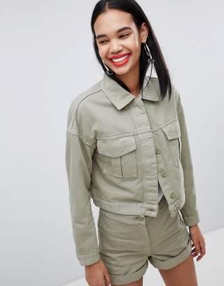 Weekday utility pocket jacket in khaki