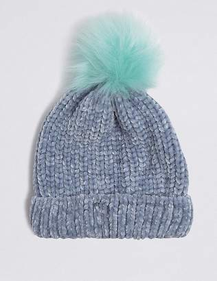 Marks and Spencer Kids' Chenille Pom-pom Hat (3-14 Years)