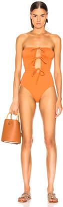 Solid & Striped Paula Swimsuit in Bronze | FWRD