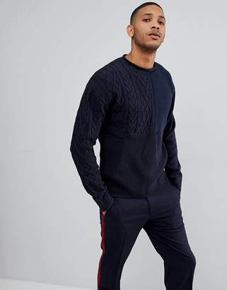 Bellfield Sweater With Mixed Textures