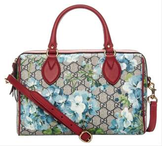Gucci Boston GG Supreme Blooms Small Blue/Red