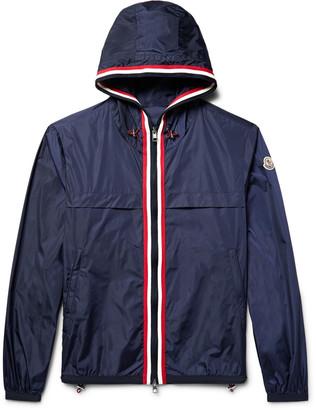 Moncler Anton Webbing-Trimmed Nylon Hooded Jacket $545 thestylecure.com
