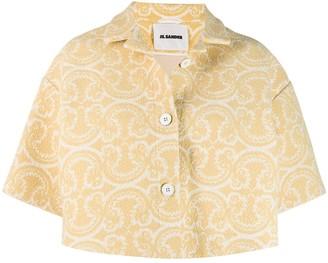 Jil Sander knitted patterned cropped jacket
