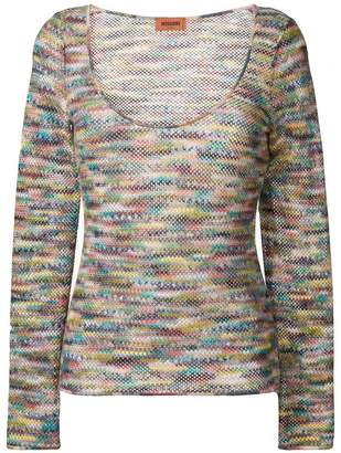 Missoni long-sleeve embroidered sweater