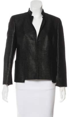 Akris Wool Leather-Trimmed Jacket