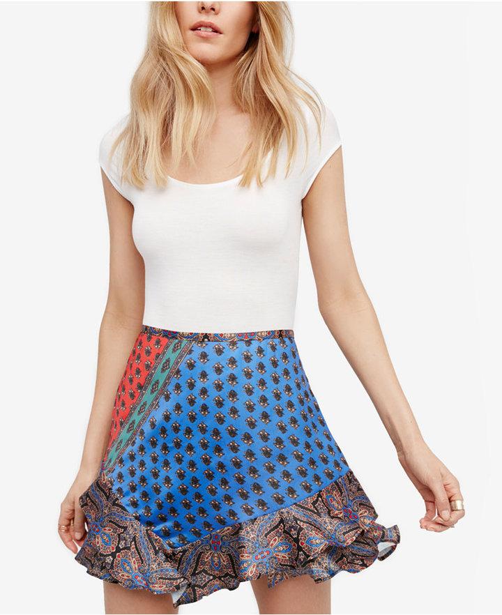 Free People Dance This Way Ruffled Mini Skirt