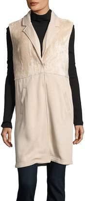 Bobi Women's Notch-Lapel Faux-Fur Vest