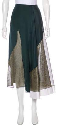 Esteban Cortazar Metallic Midi Skirt