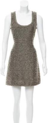 Andrew Gn Metallic Tweed Dress