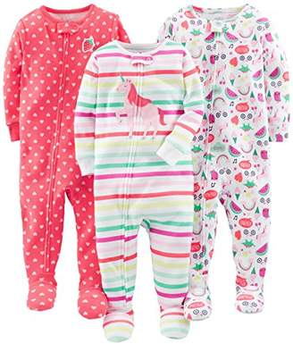 53f2f1384f ... Carter s Simple Joys by Toddler Girls  3-Pack Snug-Fit Footed Cotton  Pajamas