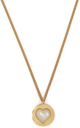 Theodora Warre - Heart Gold Plated And Pearl Necklace - Womens - Gold