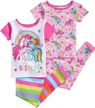 My Little Pony 4-Pc. Besties Cotton Pajama Set, Toddler Girls