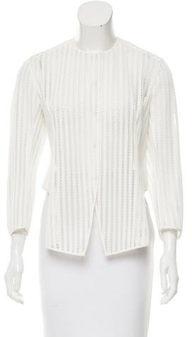 Christian Dior Asymmetrical Mesh Top