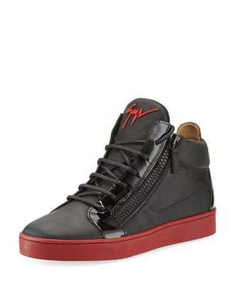 Giuseppe Zanotti Men's Berlin Leather Mid-Top Sneakers