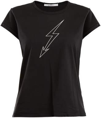 Givenchy Lightning bolt-print cotton T-shirt