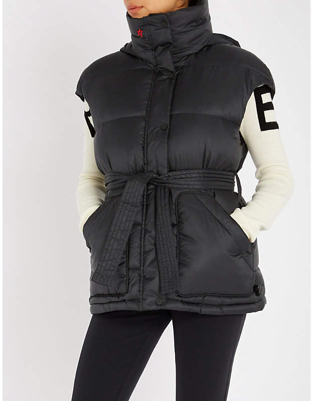 Perfect Moment Oversized belted shell-down ski gilet