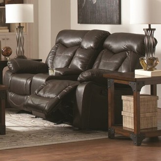 Loon Peak Pomona Motion Leather Reclining Sofa Loon Peak