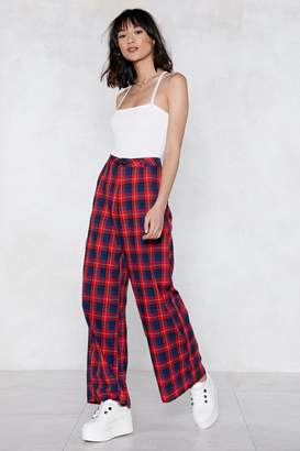 Nasty Gal Widen Your Horizons Check Pants