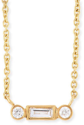 Sydney Evan Bezel Baguette Diamond Necklace