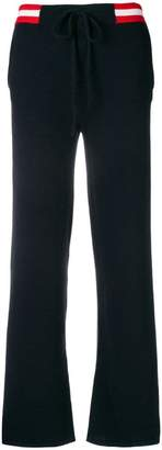 Parker Chinti & side-stripe knitted trousers